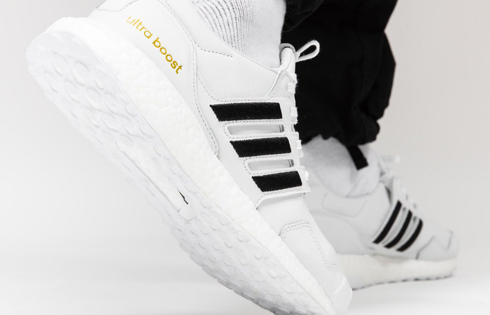 adidas UltraBOOST DNA Leather Black White EH1210 on foot 03