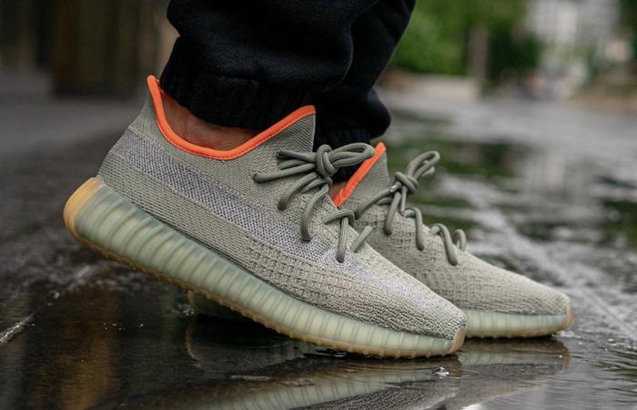 adidas Yeezy Boost 350 V2 Desert Sage FX9035 on foot 02