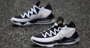 A Detailed Look At The Nike LeBron 17 Low Metallic Black Gold 01