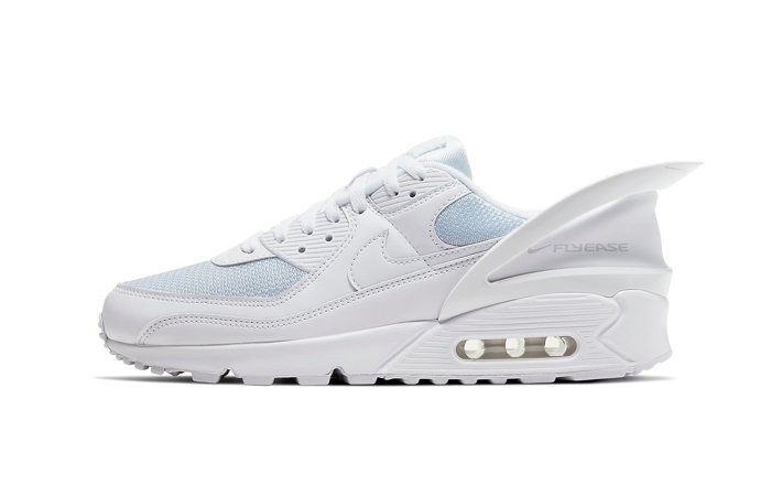 First Look At The Nike Air Max 90 FlyEase Icy White ft