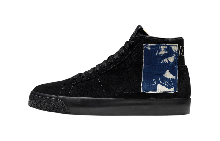 Isle Skateboards Nike SB Blazer Black Velvet CW2186-001 01