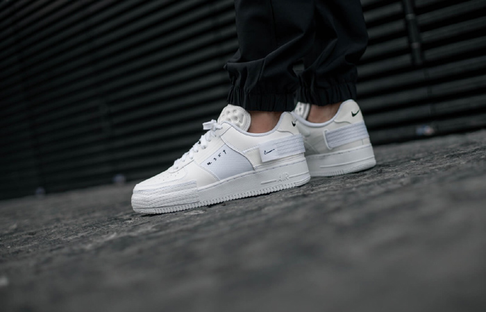 Nike Air Force 1 Type Chalk White CQ2344-101 on foot 01