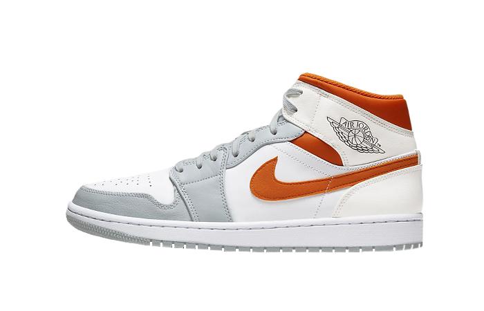 Nike Air Jordan 1 Mid SE Starfish White Orange CW7591-100 01
