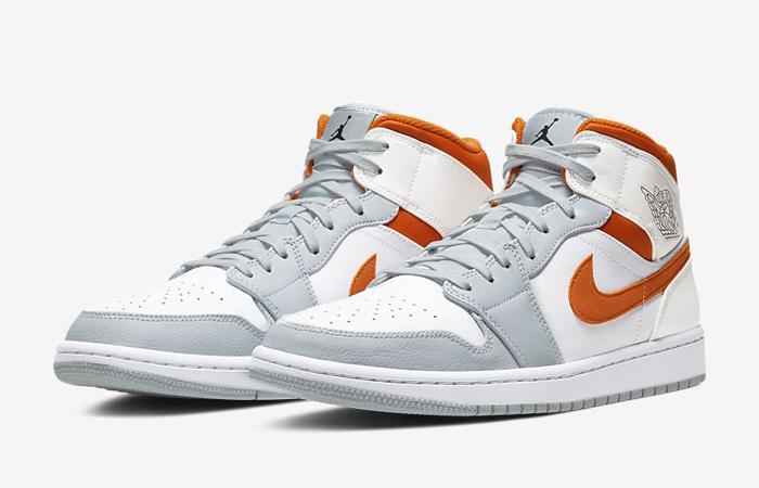 Nike Air Jordan 1 Mid SE Starfish White Orange CW7591-100 02