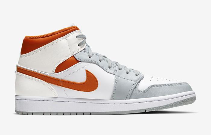 Nike Air Jordan 1 Mid SE Starfish White Orange CW7591-100 03