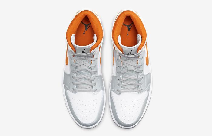 Nike Air Jordan 1 Mid SE Starfish White Orange CW7591-100 04
