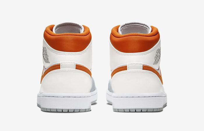 Nike Air Jordan 1 Mid SE Starfish White Orange CW7591-100 05