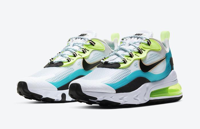 Nike Air Max 270 React Aqua Green CT1265-300 02
