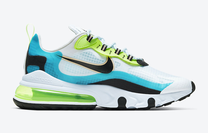 Nike Air Max 270 React Aqua Green CT1265-300 03