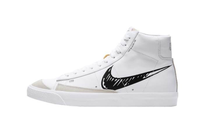 Nike Blazer Mid 77 Black Sketch White CW7580-101 01