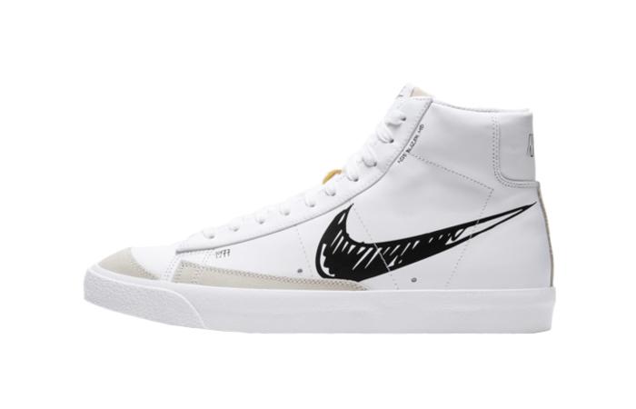 Nike Blazer Mid 77 Black Sketch White CW7580-101 01
