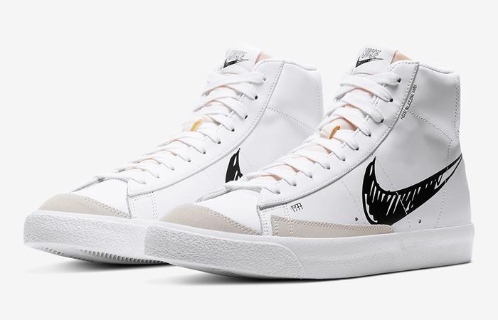 Nike Blazer Mid 77 Black Sketch White CW7580-101 02