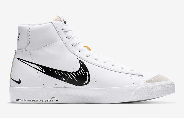 Nike Blazer Mid 77 Black Sketch White CW7580-101 03