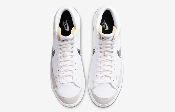 Nike Blazer Mid 77 Black Sketch White CW7580-101 04