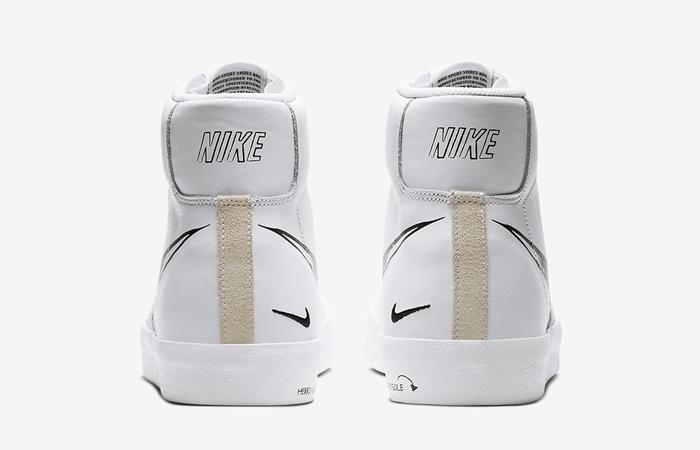 Nike Blazer Mid 77 Black Sketch White CW7580-101 05