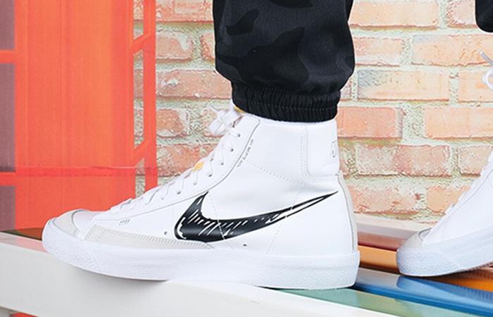 Nike Blazer Mid 77 Black Sketch White CW7580-101 on foot 01