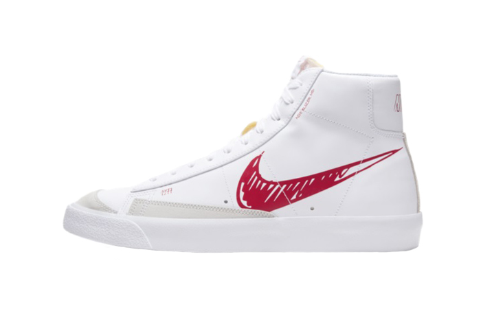 Nike Blazer Mid 77 Red Sketch White CW7580-100 01