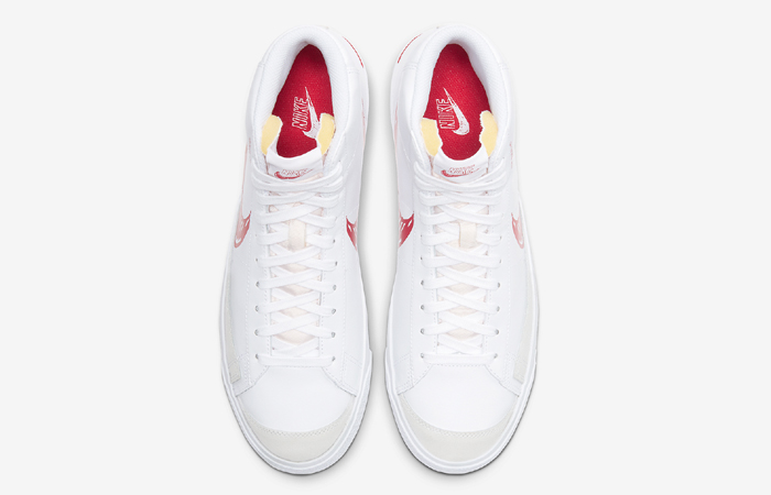 Nike Blazer Mid 77 Red Sketch White CW7580-100 04
