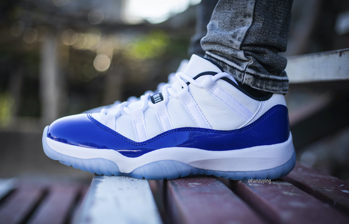 "On Foot Look At The Nike Womens Air Jordan 11 Low ""Concord"" ft"