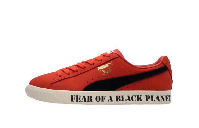 Public Enemy Puma Clyde 'Fear Of A Black Planet' Red 374539-01 01