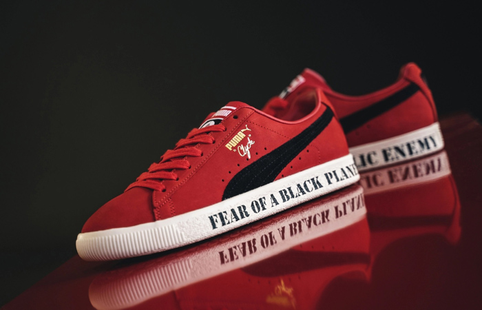 Public Enemy Puma Clyde 'Fear Of A Black Planet' Red 374539-01 02