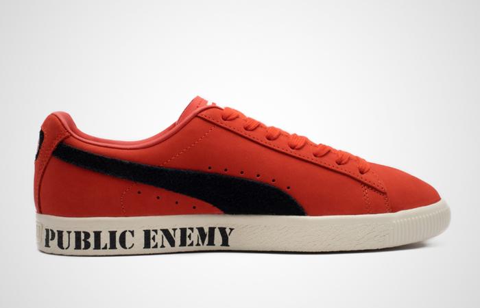 Public Enemy Puma Clyde 'Fear Of A Black Planet' Red 374539-01 06