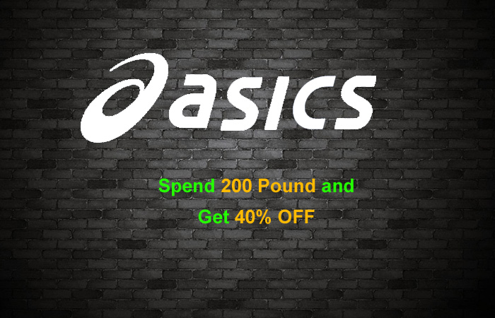 Spend £200 In Online Purchase And Get 40% Off At ASICS!! ft