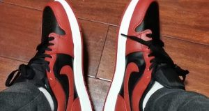 Your Very First Look At The Air Jordan 1 Low Black Varsity Red