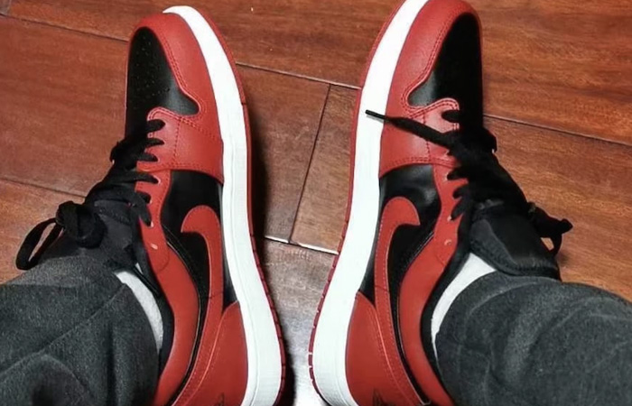 Your Very First Look At The Air Jordan 1 Low Black Varsity Red ft