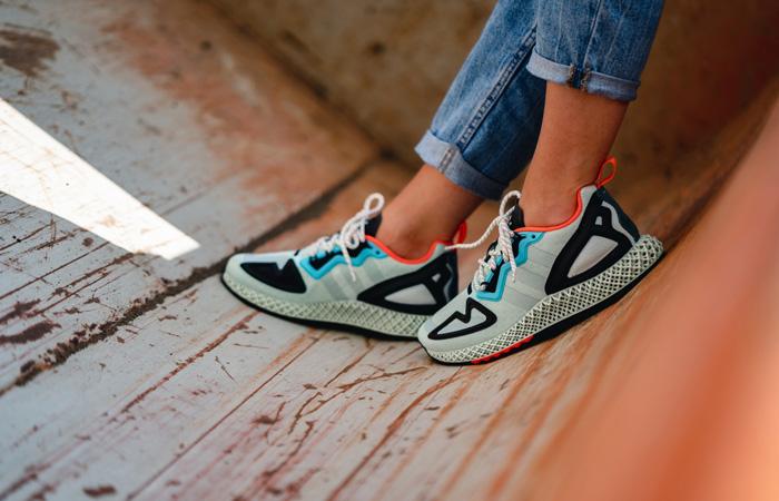 adidas ZX 2K 4D Pastel Mint FV8500 on foot 01