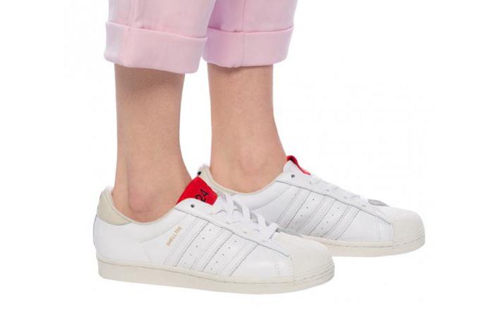 424 adidas Shelltoe Pure White FW7624 on foot 01