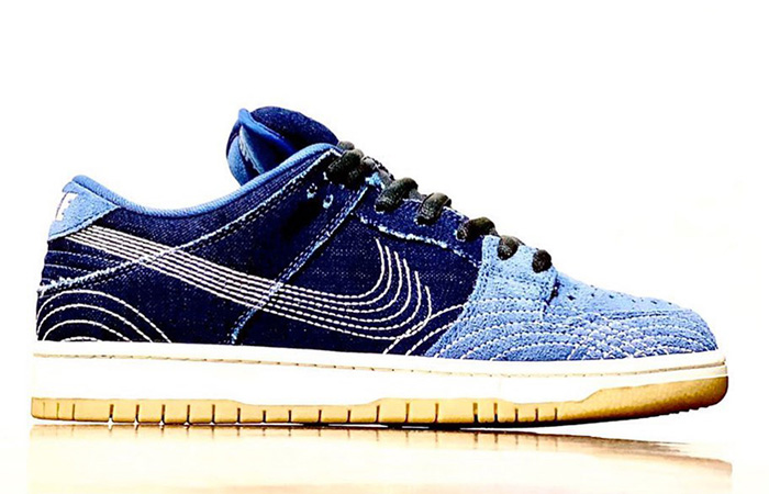 Another Nike SB Dunk Low With Two Shades Denim Got Unveiled! ft