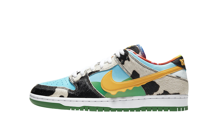 Ben & Jerry Nike SB Dunk Low Chunky Dunky Green Multi CU3244-100 01