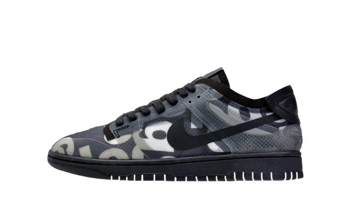 Comme des Garcons Nike Dunk Low Print Black Ash CZ2675-001 01