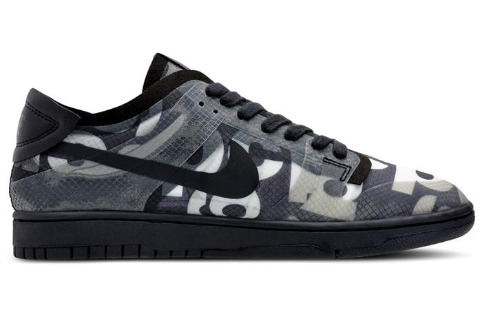 Comme des Garcons Nike Dunk Low Print Black Ash CZ2675-001 05