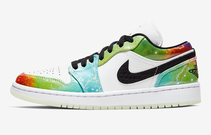 "Here Are The Official Images Of Nike Womens Air Jordan 1 Low ""Galaxy"" ft"