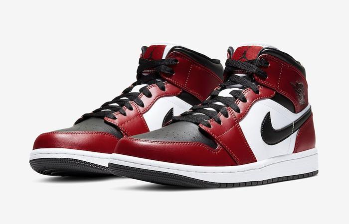 Jordan 1 Mid Chicago Red Black Toe 554724-069 02