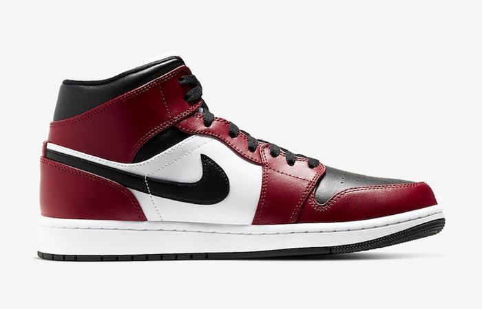 Jordan 1 Mid Chicago Red Black Toe 554724-069 03