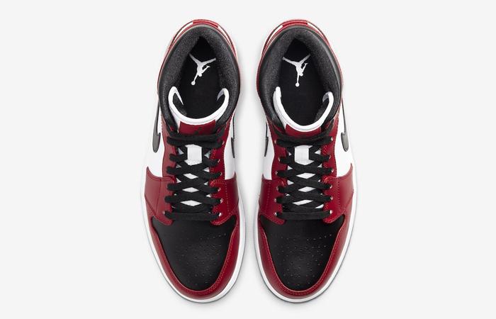 Jordan 1 Mid Chicago Red Black Toe 554724-069 04