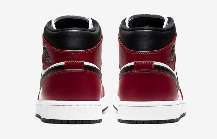 Jordan 1 Mid Chicago Red Black Toe 554724-069 05
