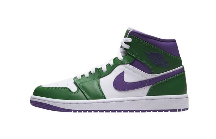 Jordan 1 Mid Green Purple 554724-300 01
