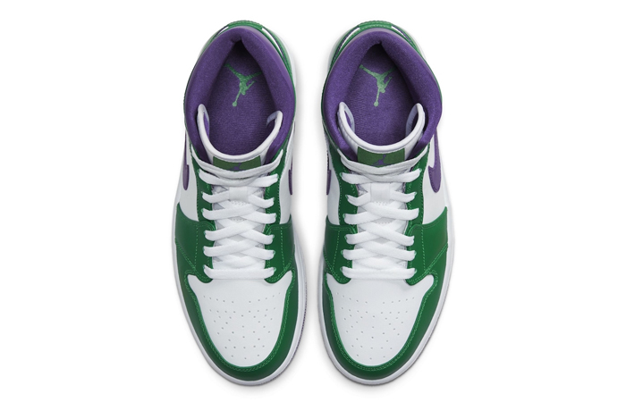 Jordan 1 Mid Green Purple 554724-300 06
