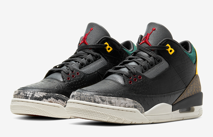 Jordan 3 SE Animal Instinct 2.0 Snakeskin Black CV3583-003 02
