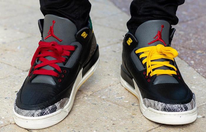 Jordan 3 SE Animal Instinct 2.0 Snakeskin Black CV3583-003 on foot 02