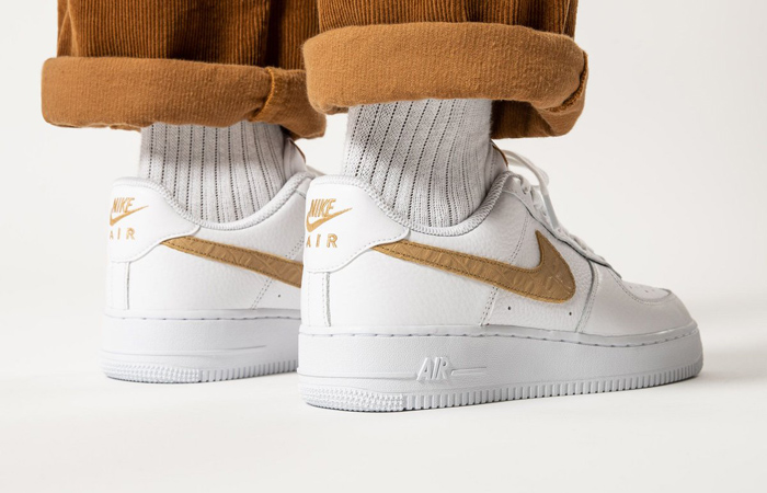 Nike Air Force 1 LV8 White Nut Brown CW7567-101 on foot 03