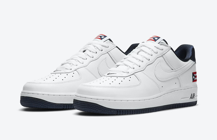 Nike Air Force 1 Puerto Rico White Navy CJ1386-100 05