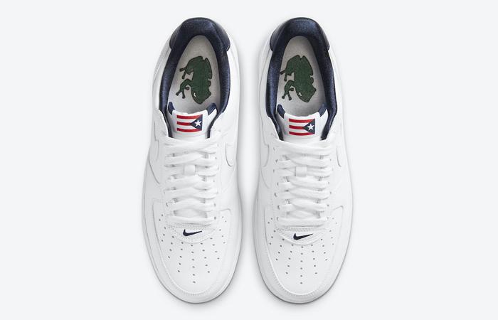 Nike Air Force 1 Puerto Rico White Navy CJ1386-100 07