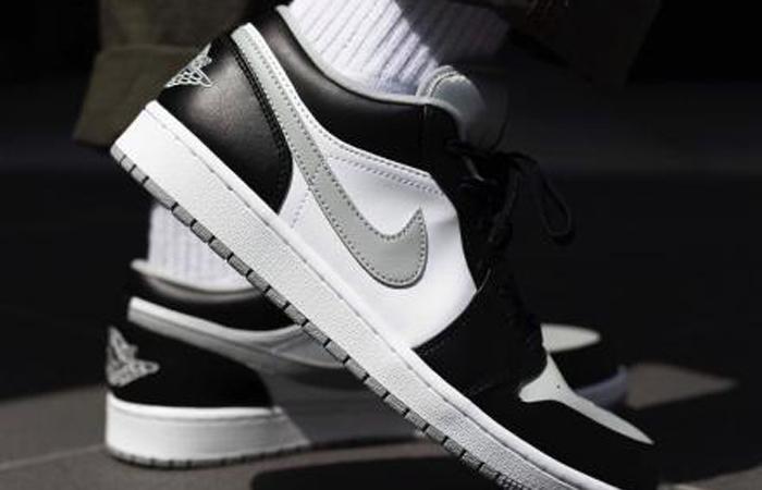 Nike Air Jordan 1 Low Smoke Grey 553558-039 on foot 01