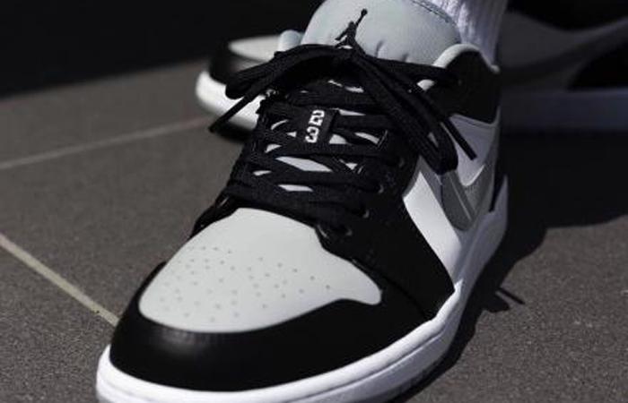 Nike Air Jordan 1 Low Smoke Grey 553558-039 on foot 02