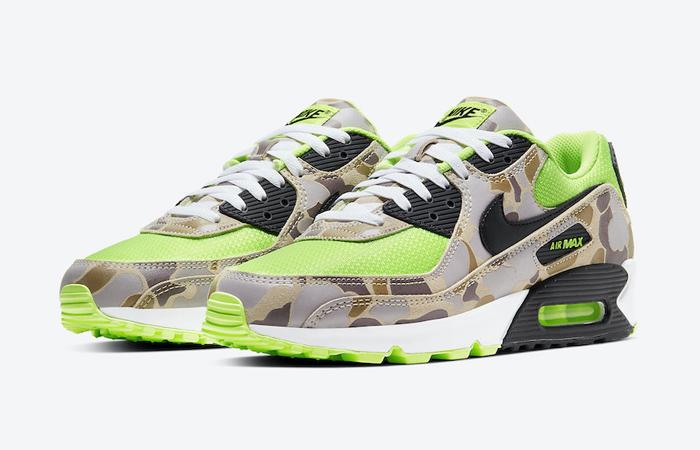 Nike Air Max 90 Duck Camo Green Volt CW4039-300 02